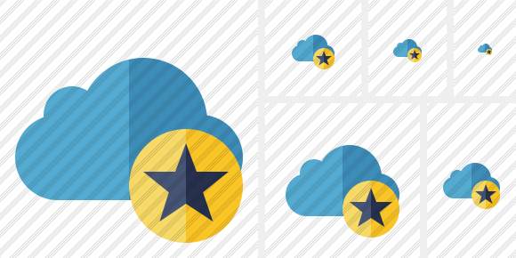 Cloud Blue Star Icon