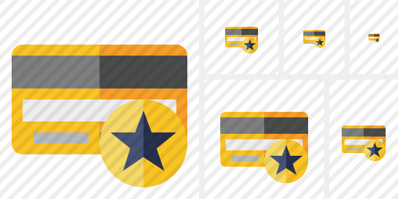 Credit Card Star Icon