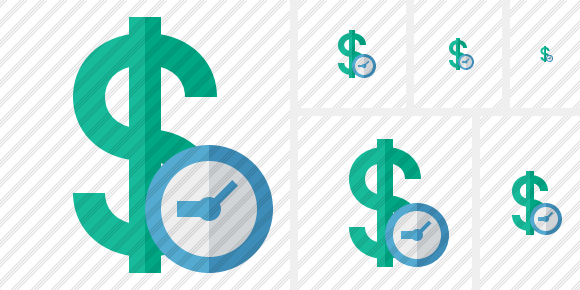 Dollar Clock Icon