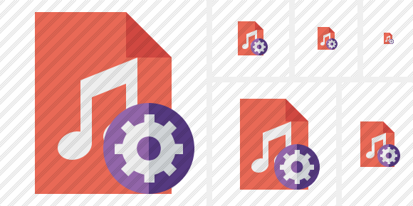 File Music Settings Icon