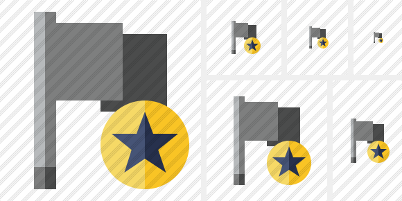 Flag Dark Star Icon