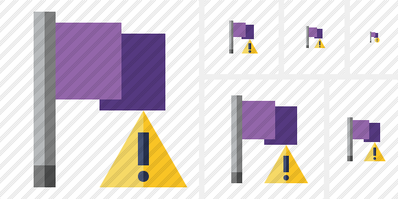 Flag Purple Warning Icon