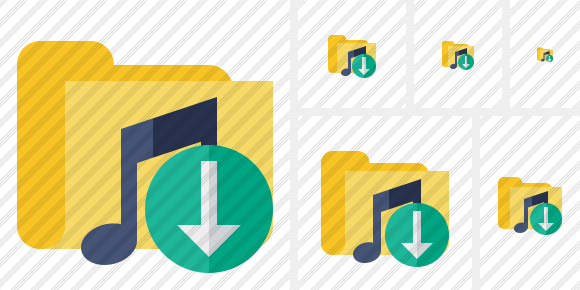 Folder Music Download Icon