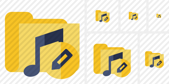 Folder Music Edit Icon