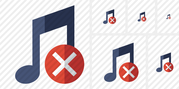 Music Cancel Icon