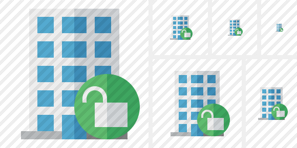 Office Building Unlock Icon