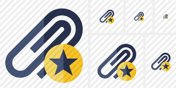 Paperclip Star Icon