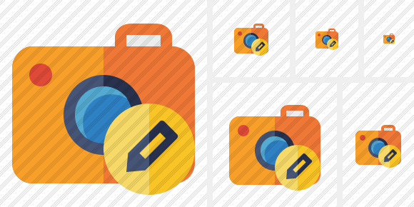 Photocamera Edit Icon