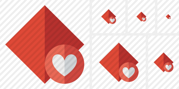Rhombus Red Favorites Icon