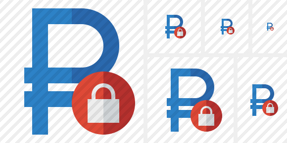 Ruble Lock Icon