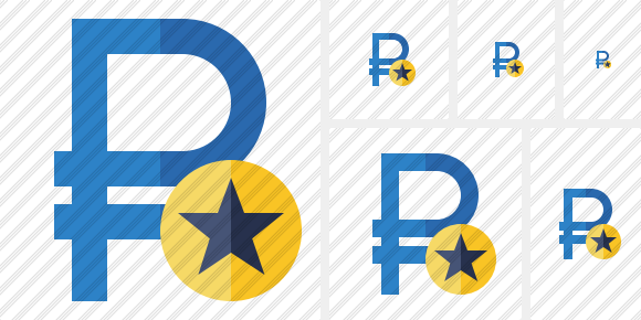 Ruble Star Icon
