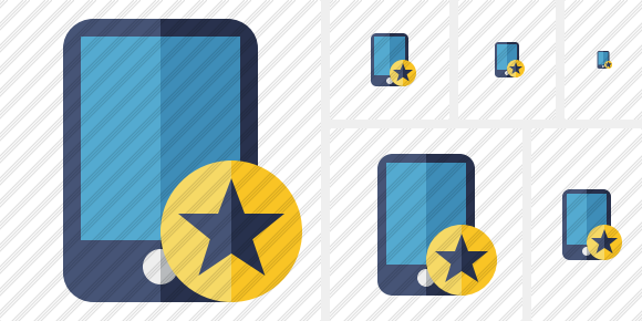 Smartphone Star Icon