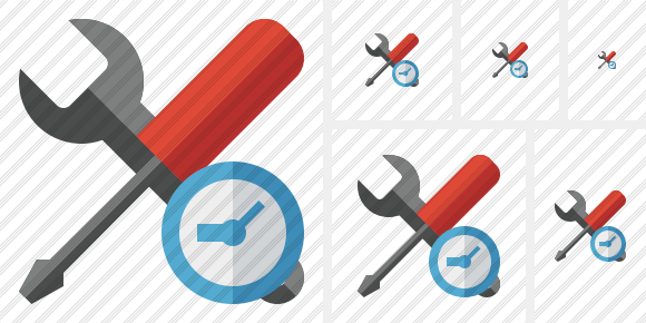 Tools Clock Icon