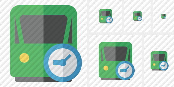 Train 2 Clock Icon