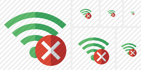Wi Fi Green Cancel Icon