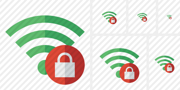 Wi Fi Green Lock Icon