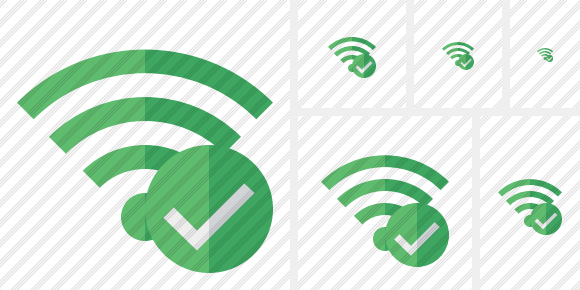 Wi Fi Green Ok Icon