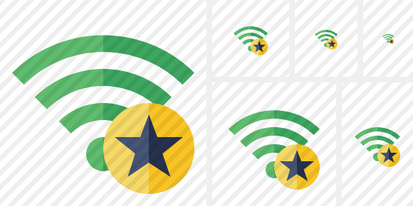 Wi Fi Green Star Icon