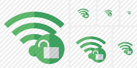 Wi Fi Green Unlock Icon