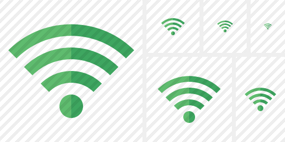 Wi Fi Green Icon