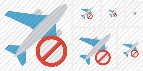 Airplane Block Icon