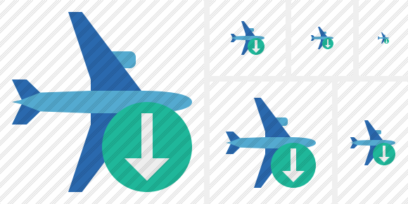 Airplane Horizontal 2 Download Icon