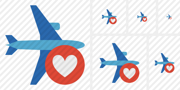 Airplane Horizontal 2 Favorites Icon