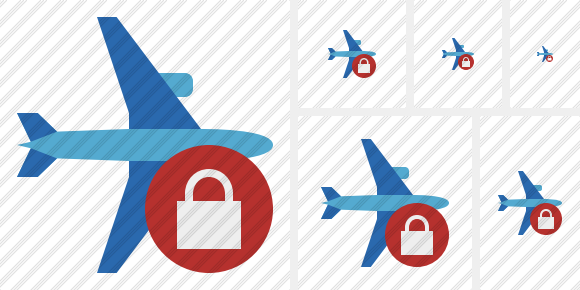 Airplane Horizontal 2 Lock Icon