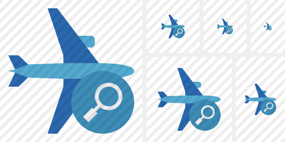 Airplane Horizontal 2 Search Icon