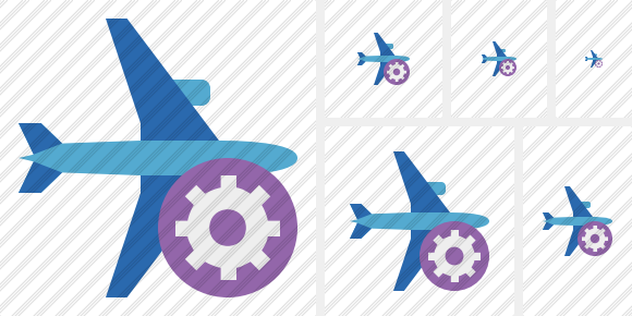 Airplane Horizontal 2 Settings Icon