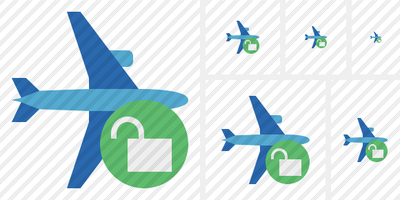 Airplane Horizontal 2 Unlock Icon