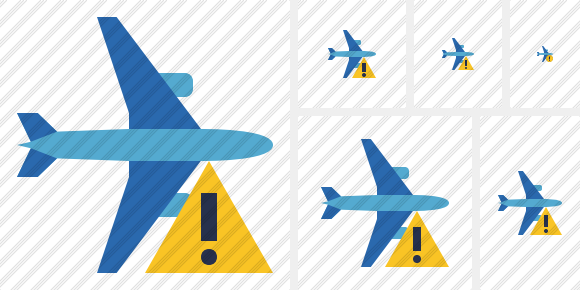 Airplane Horizontal 2 Warning Icon