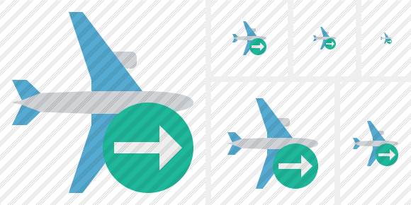 Airplane Horizontal Next Icon