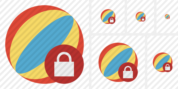 Beach Ball Lock Icon
