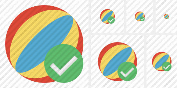 Beach Ball Ok Icon