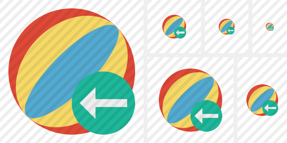 Beach Ball Previous Icon