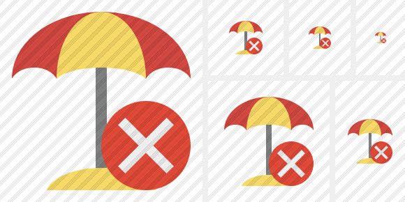 Icone Beach Umbrella Cancel