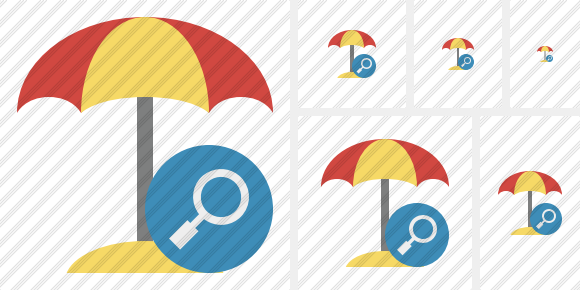 Beach Umbrella Search Icon
