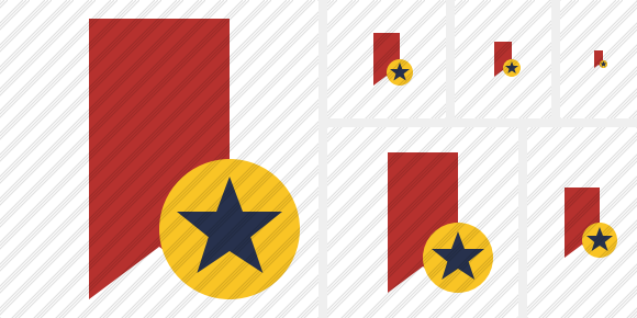Bookmark Red Star Icon