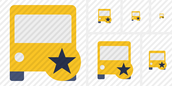 Bus 2 Star Icon