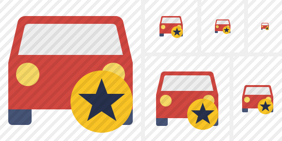 Car 2 Star Icon