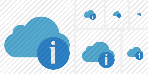 Cloud Blue Information Icon