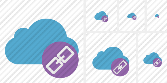 Cloud Blue Link Icon