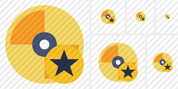 Disc Star Icon