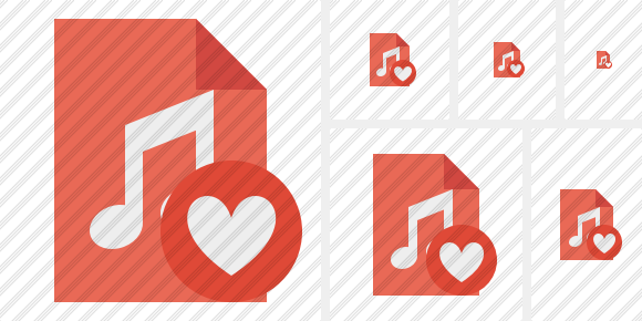 File Music Favorites Icon