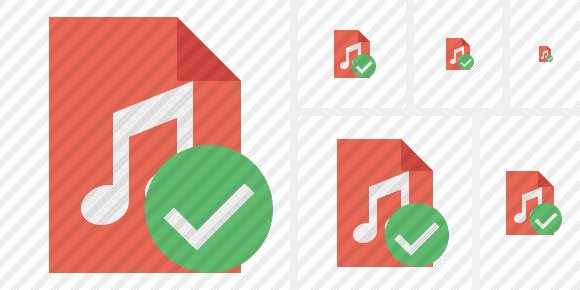File Music Ok Icon