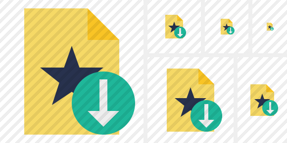 File Star Download Icon