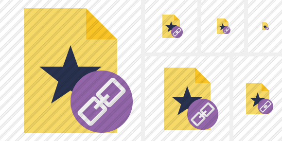 File Star Link Icon