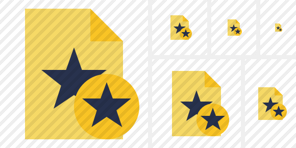 File Star Star Icon