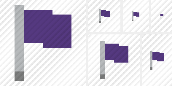 Flag Purple Icon